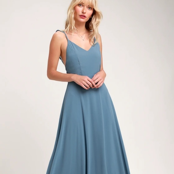 507bd3ebd1bff Lulu's Dresses | Meteoric Rise Slate Blue Maxi Dress Lulus | Poshmark